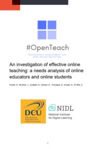 #Openteach Needs Analysis Report